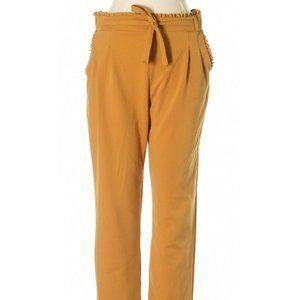 Soho Apparel Mustard Yellow Tie Boho Pants